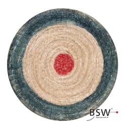 Strohscheibe DELUXE rund | 65 cm | 25lbs | balu-rot
